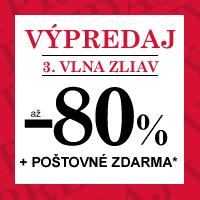 Zimný výpredaj - zľavy až 80 % + poštovné zdarma*