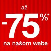 Zľavy až -75%