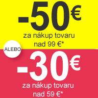 Zľava 30 nebo 50 €