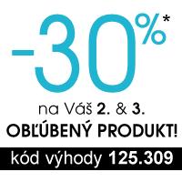Zľava 30% na 2. a 3. produkt