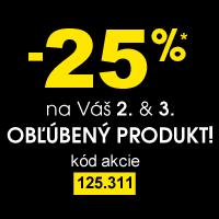 Zľava 25% na Váš 2. a 3. obľúbený produkt